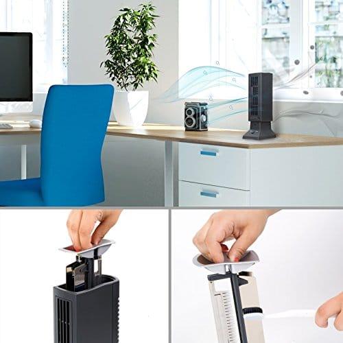 Tevigo Luftreiniger, Ionisierer, Luft-Ionisierer perfekt für Allergiker, Raucher und auch bei Hausstaubmilben-Allergie -